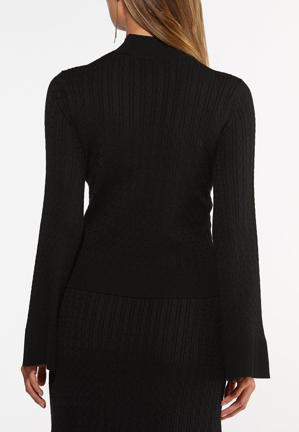 Cable Mock Neck Sweater (Item #44428844)