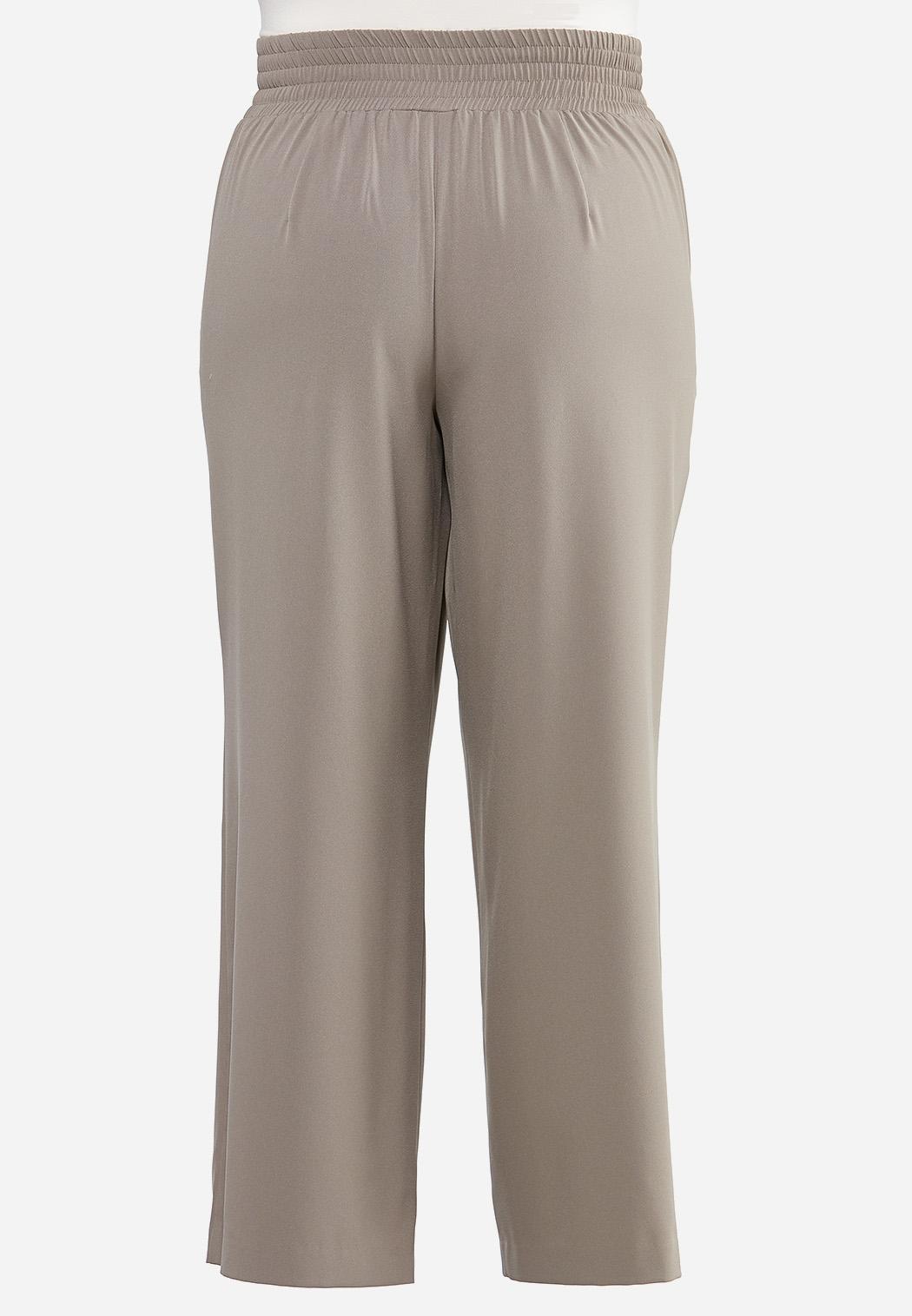 Plus Size Wide Leg Trouser Pants (Item #44429341)