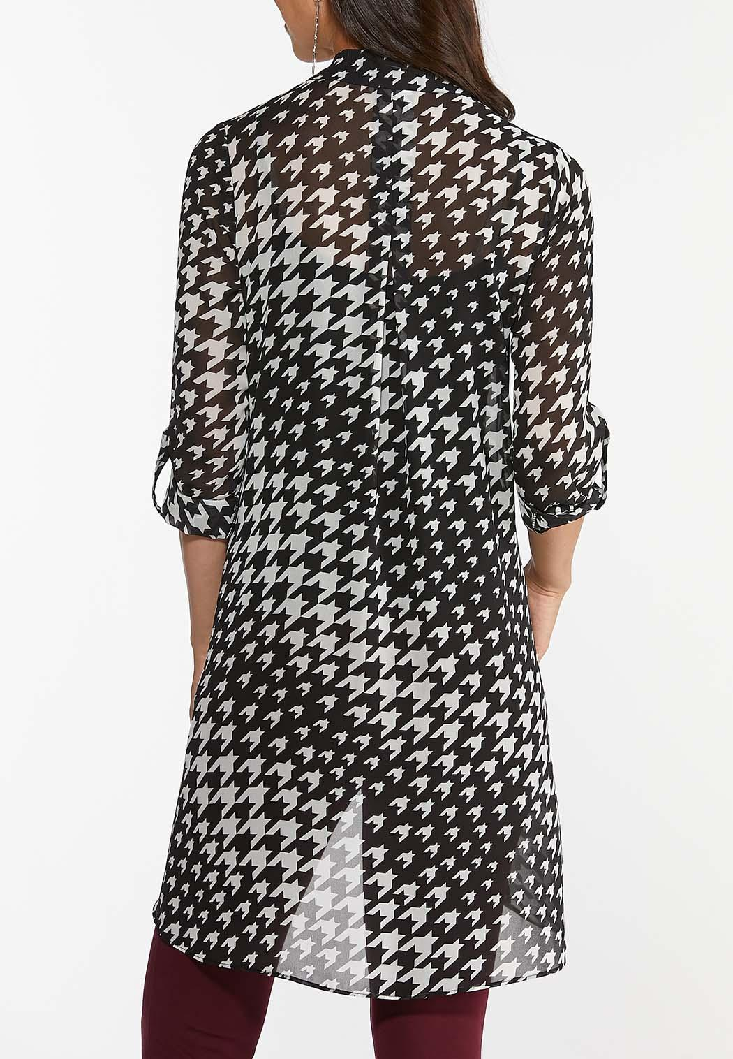 Houndstooth High-Low Tunic (Item #44433482)