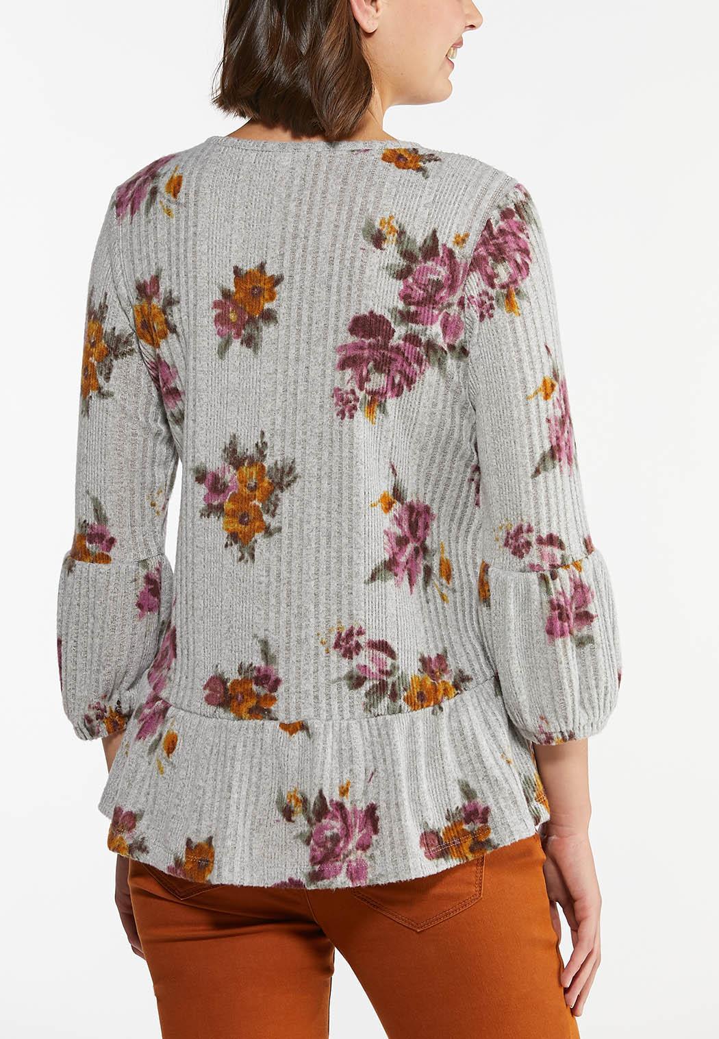 Romantic Floral Peplum Top (Item #44434718)