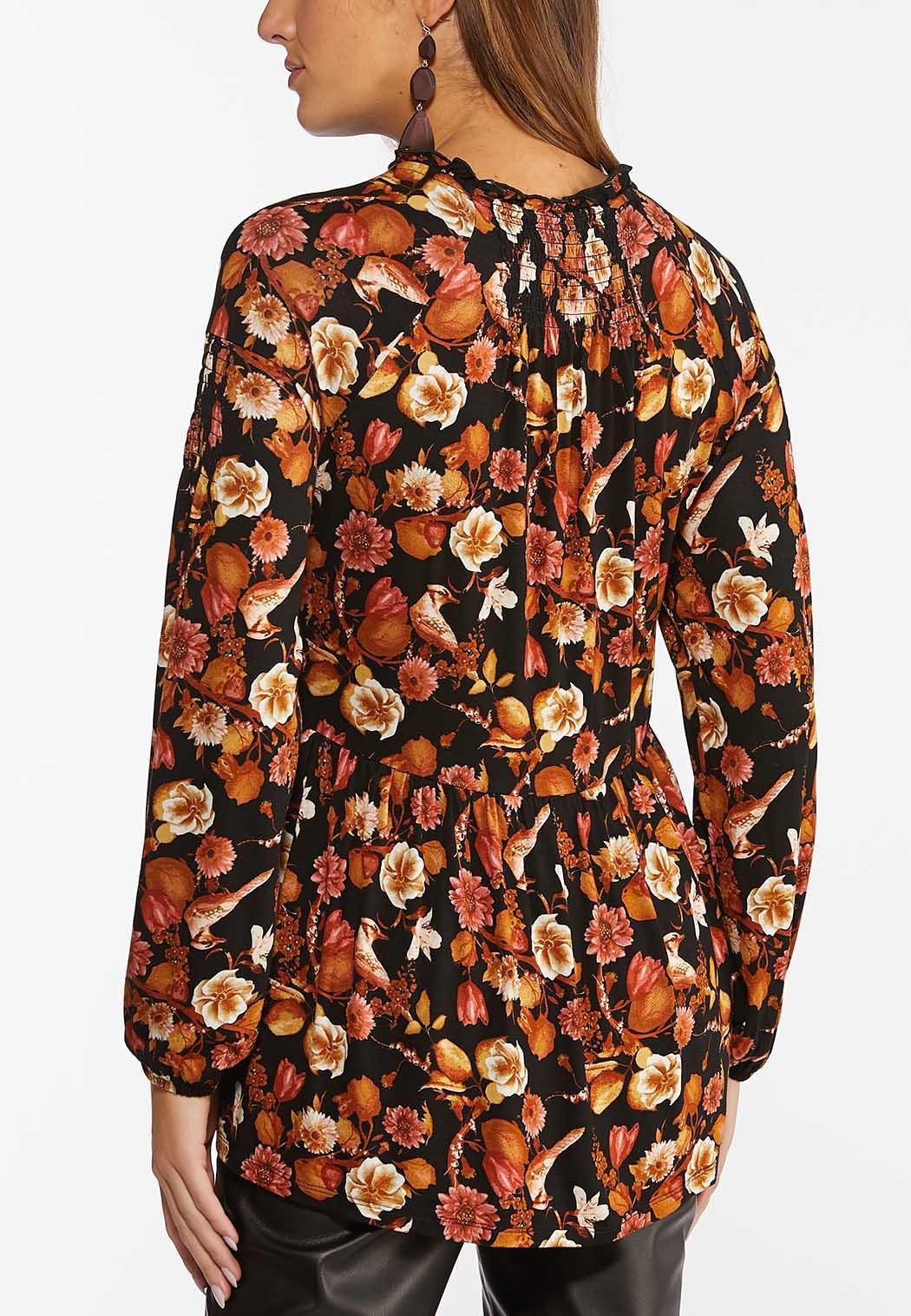 Plus Size Floral Peplum Top (Item #44436186)
