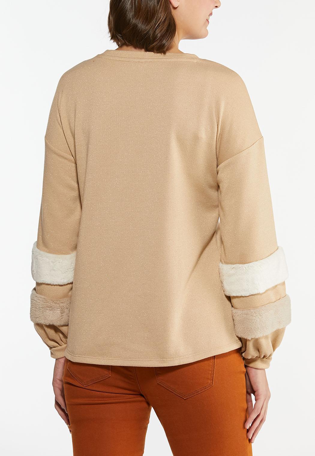Fur Trim Sweatshirt (Item #44437141)