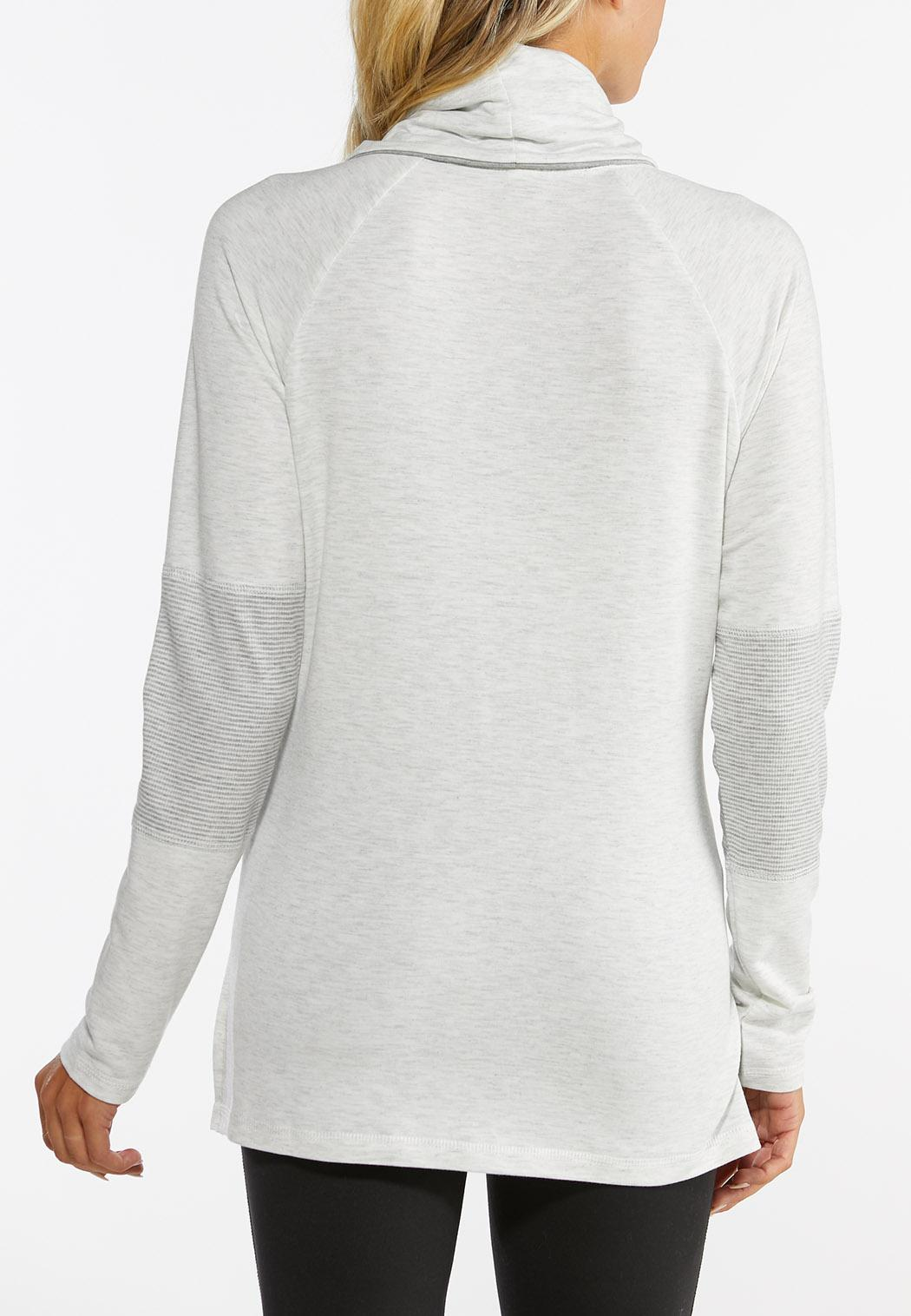 Ruffled Cowlneck Athleisure Top (Item #44437246)