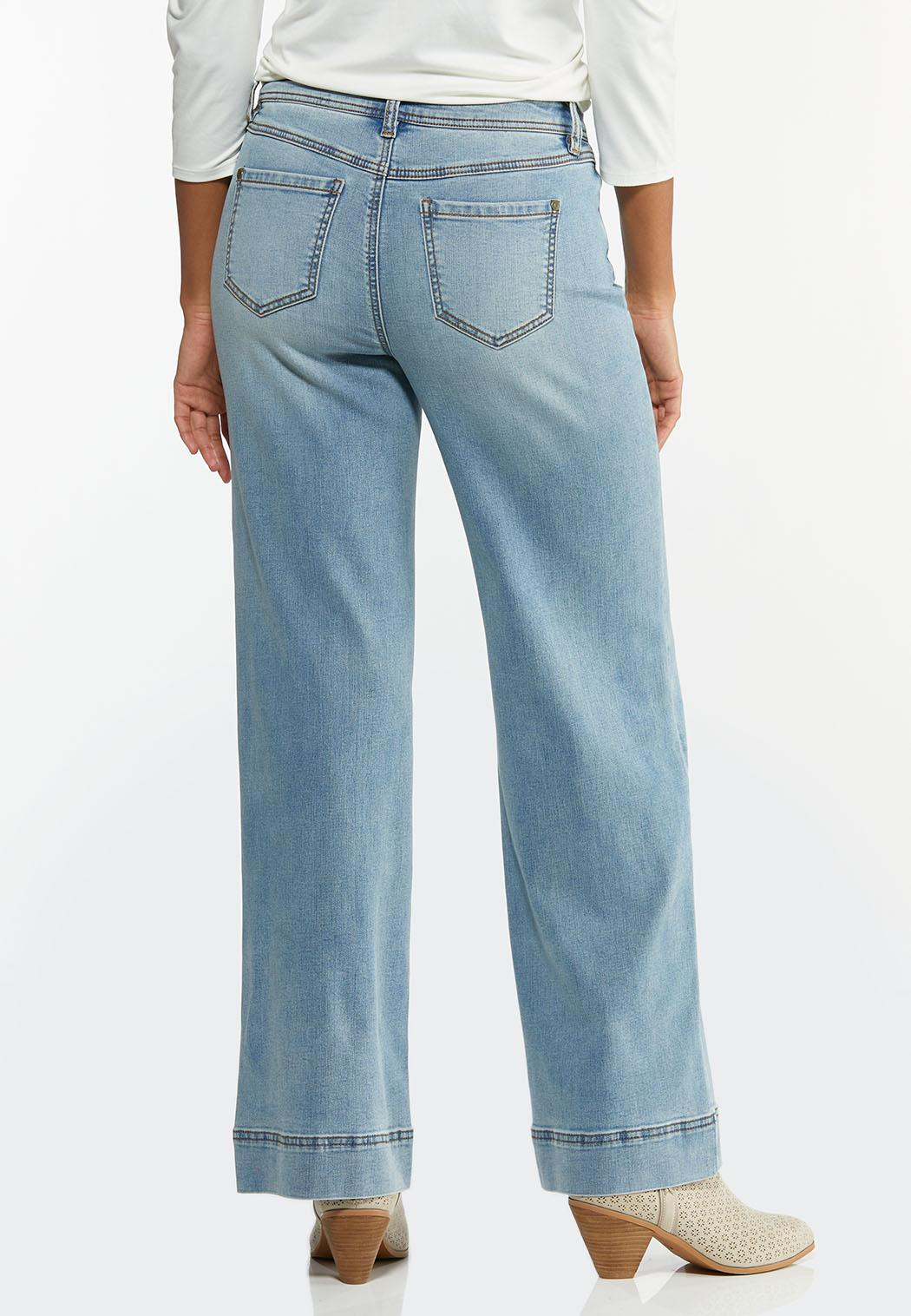 Faded Wide Leg Jeans (Item #44437700)