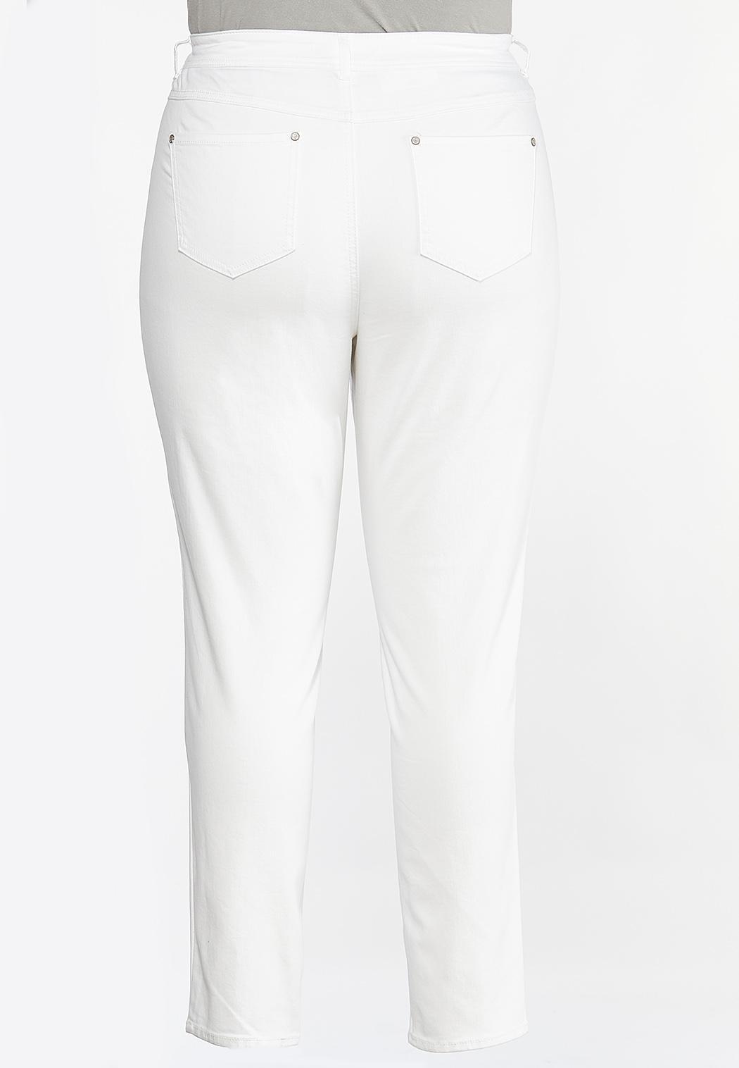 Plus Size White Skinny Jeans (Item #44438031)