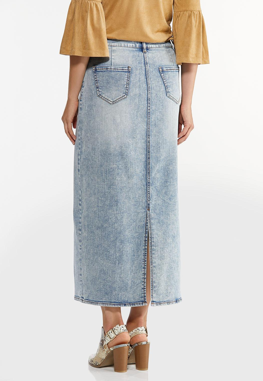 Acid Wash Denim Skirt (Item #44439667)