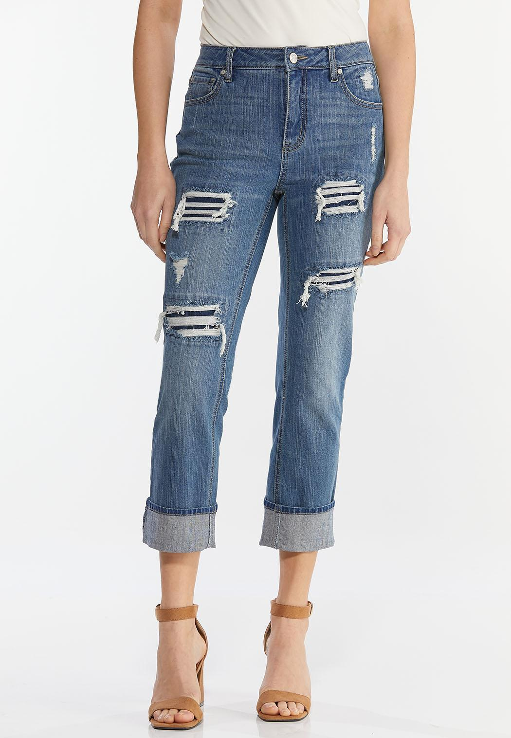 Distressed Boyfriend Jeans (Item #44440595)