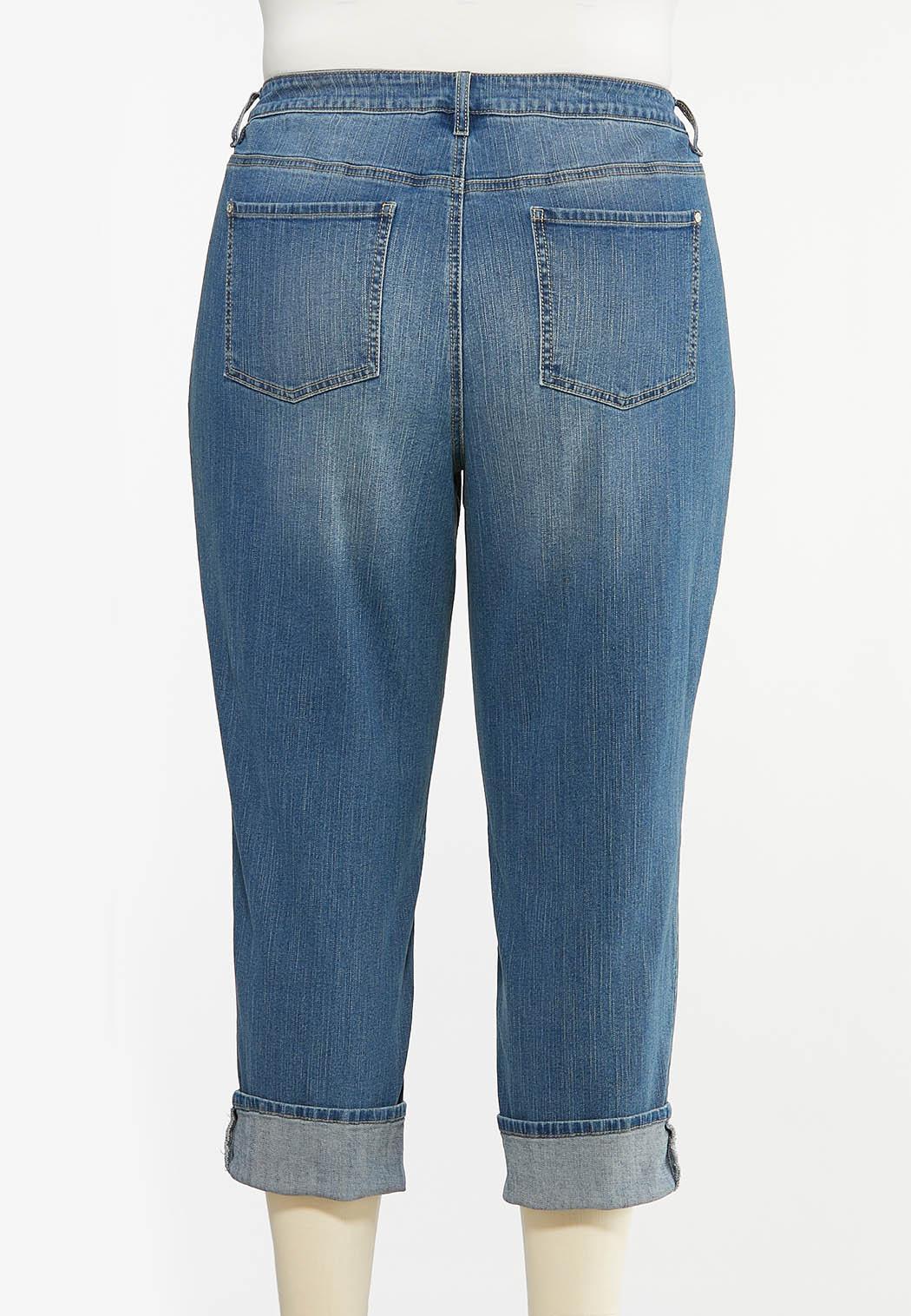 Plus Size Distressed Boyfriend Jeans (Item #44440609)