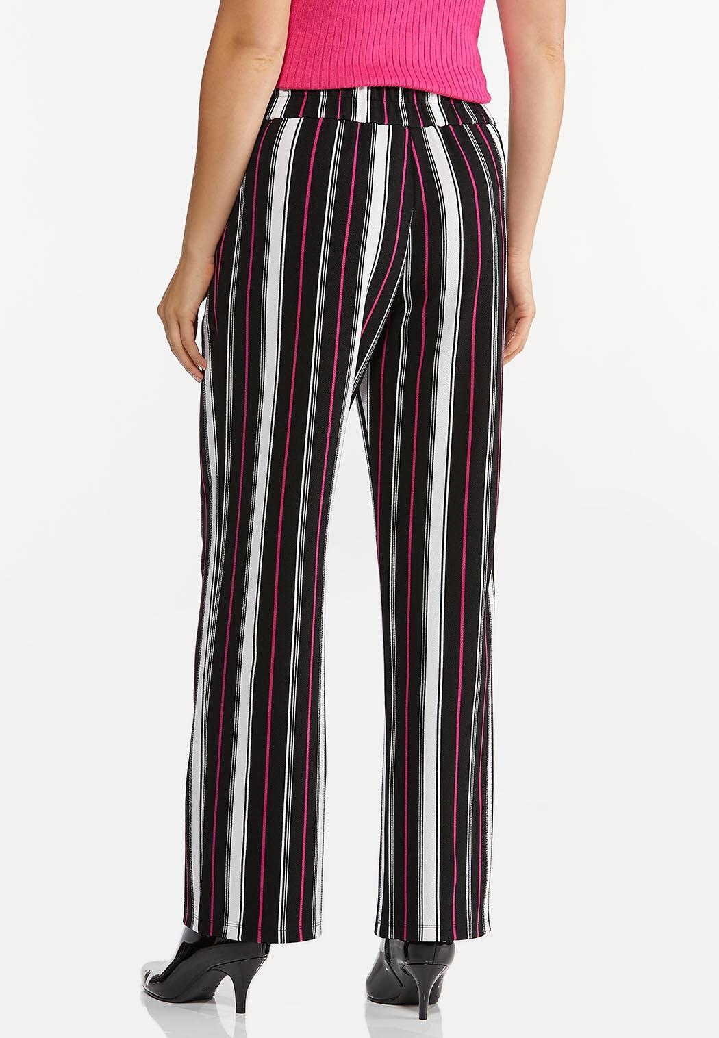 Petite Pink Stripe Wide Leg Pants (Item #44440816)
