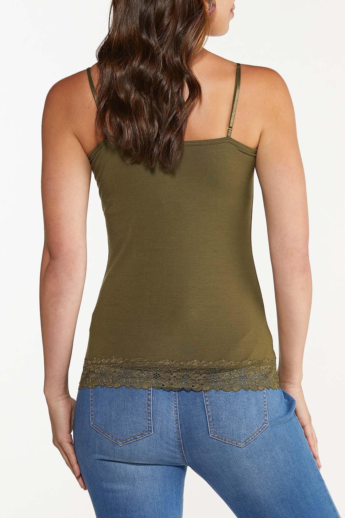 Plus Size Lace Trim Camisole  (Item #44441505)