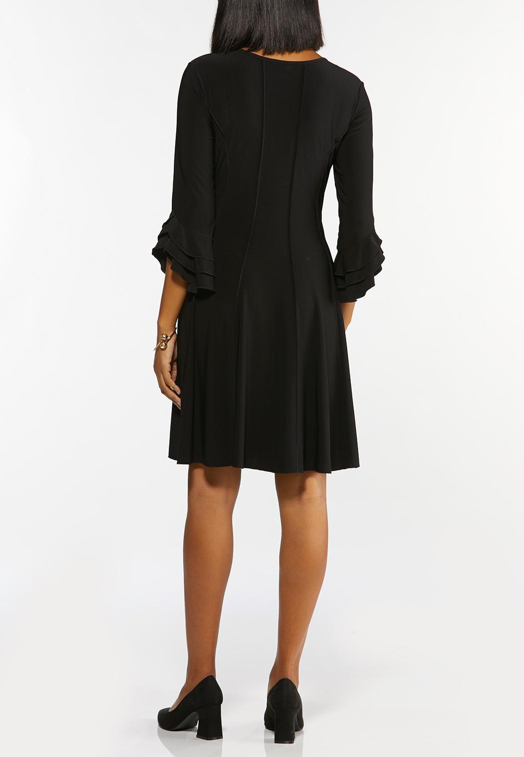Seamed Triple Ruffled Dress (Item #44441664)