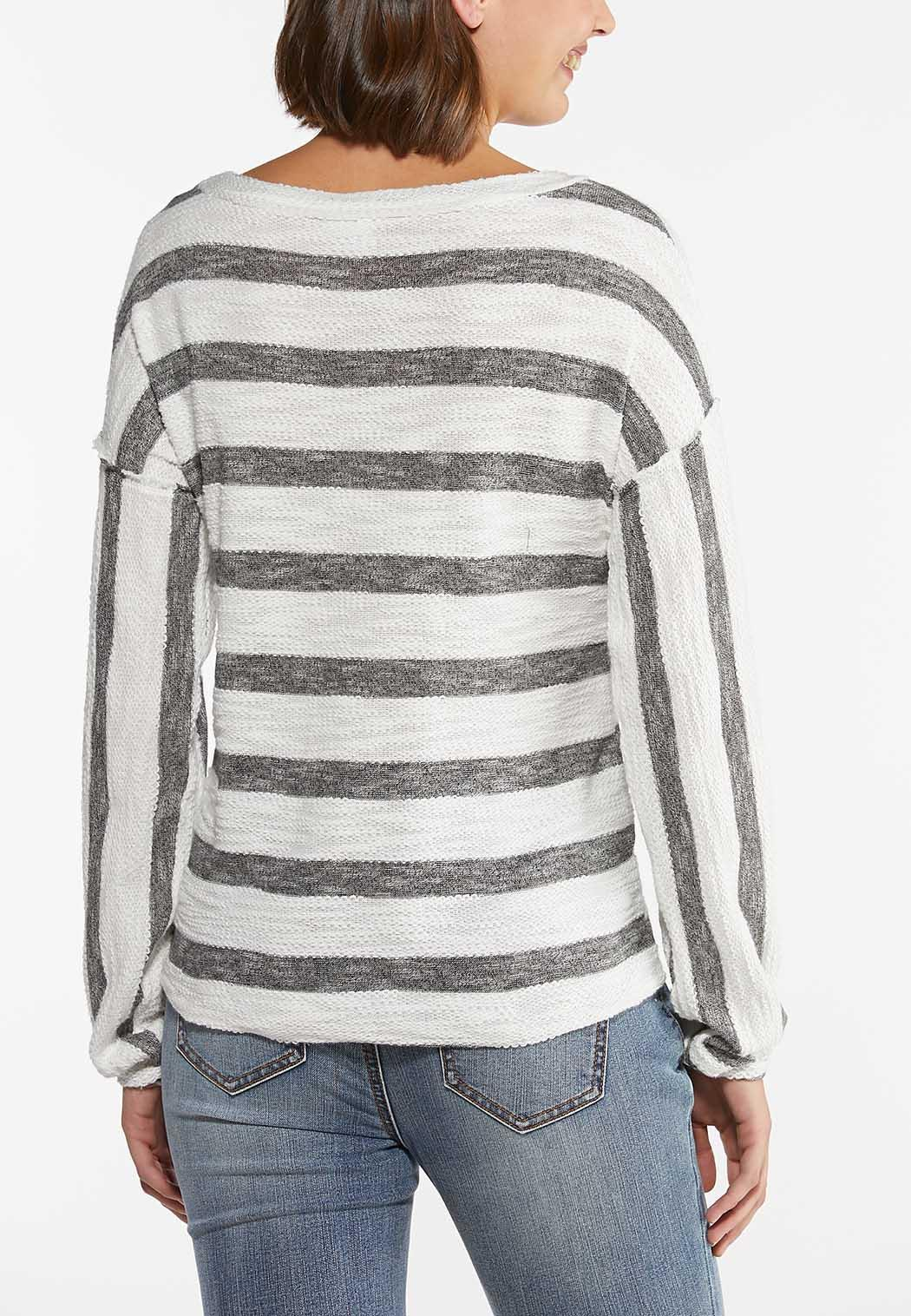 Striped Tie Front Top (Item #44442119)