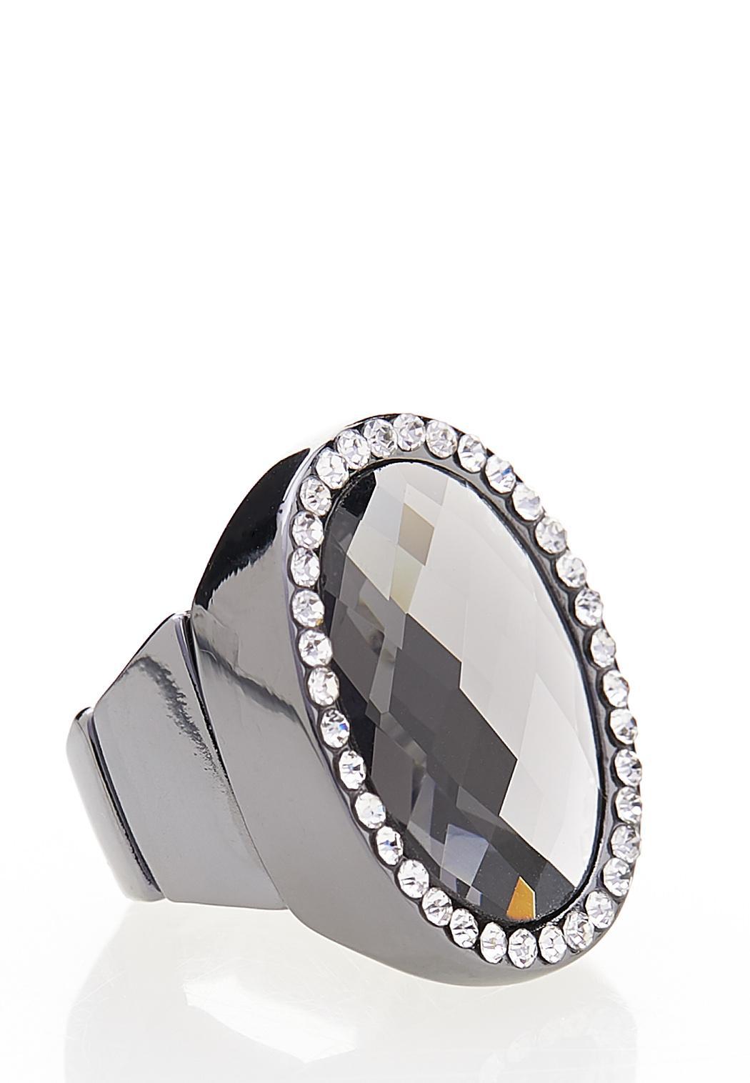 Hematite Stone Stretch Ring (Item #44442310)
