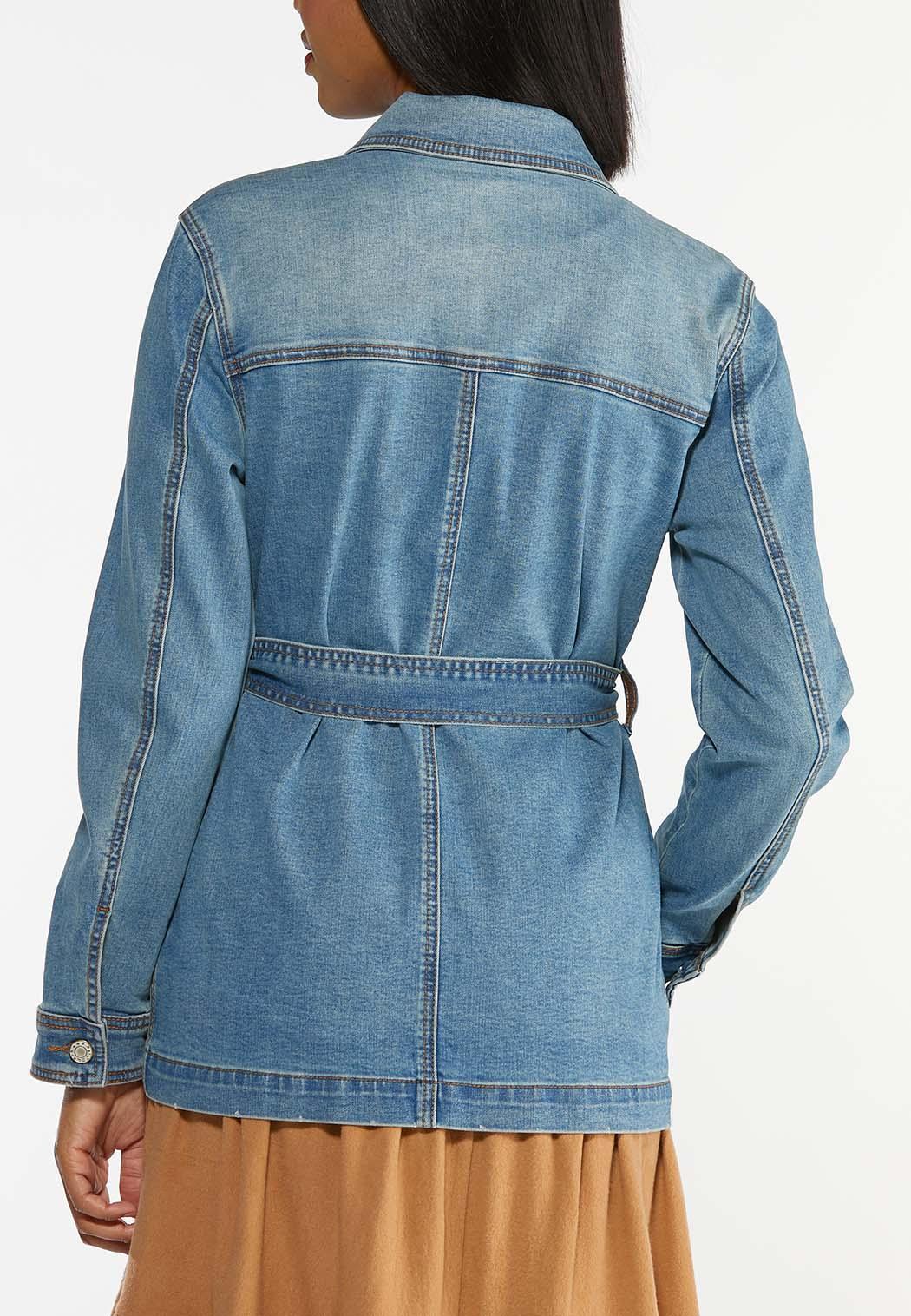Belted Denim Jacket (Item #44443970)