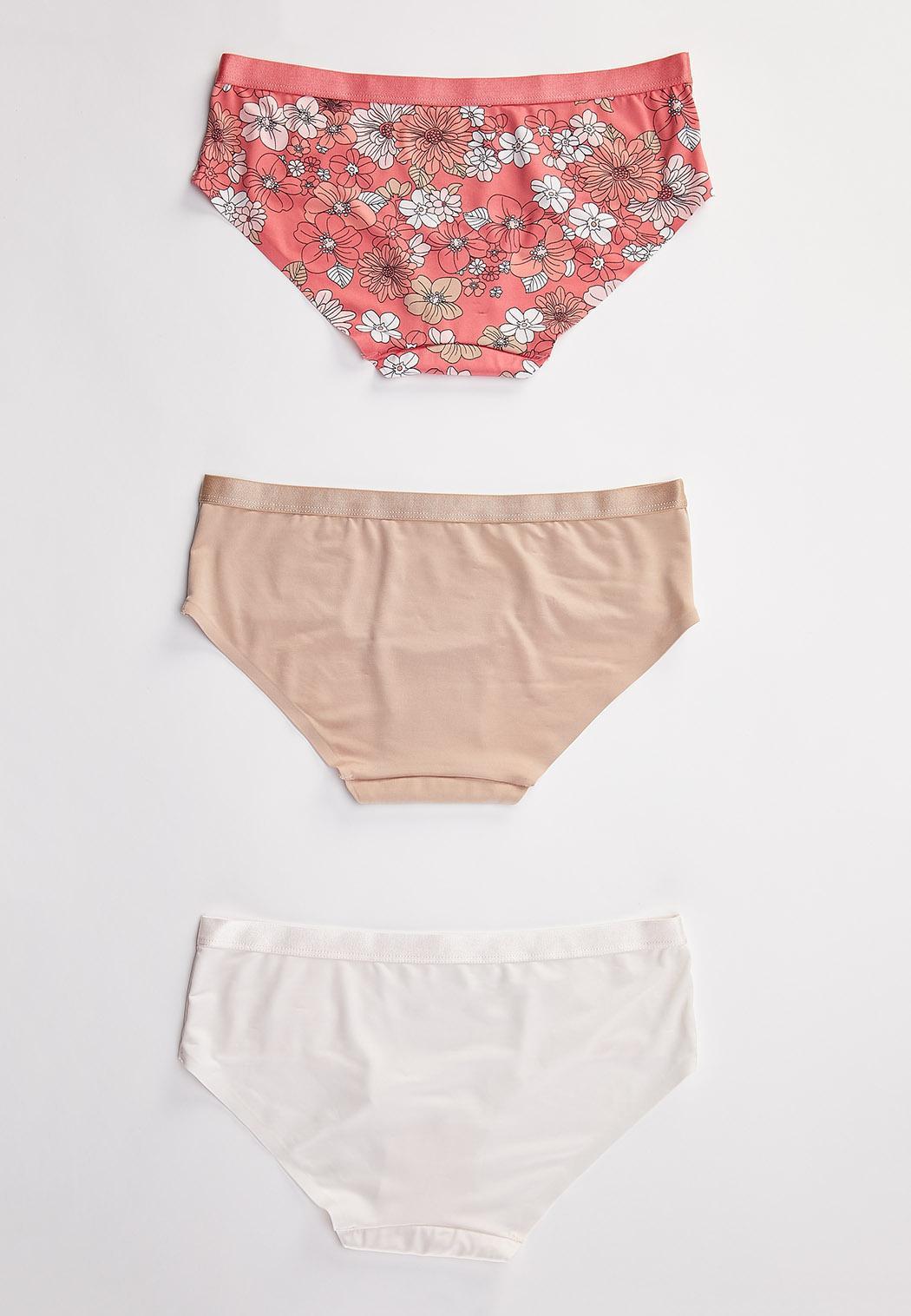 Plus Size Floral Hipster Panty Set (Item #44444511)