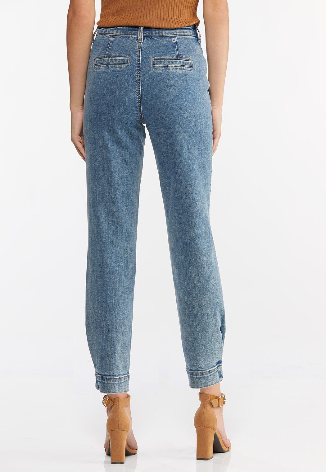 Tulip Hem Mom Jeans (Item #44444697)