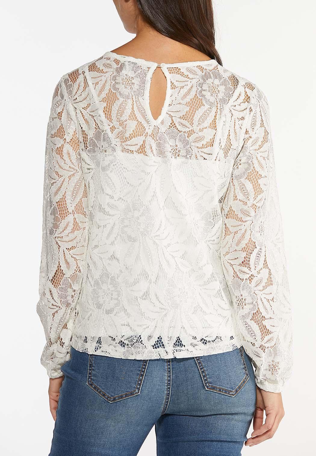 Metallic Lace Top (Item #44445126)