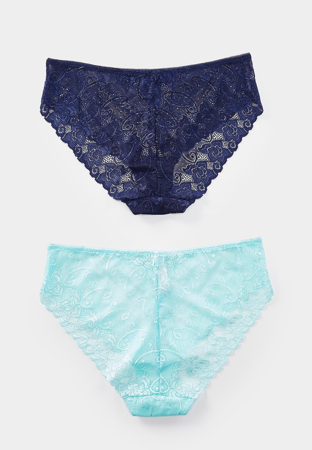 Blue Lace Hipster Panty Set (Item #44445261)