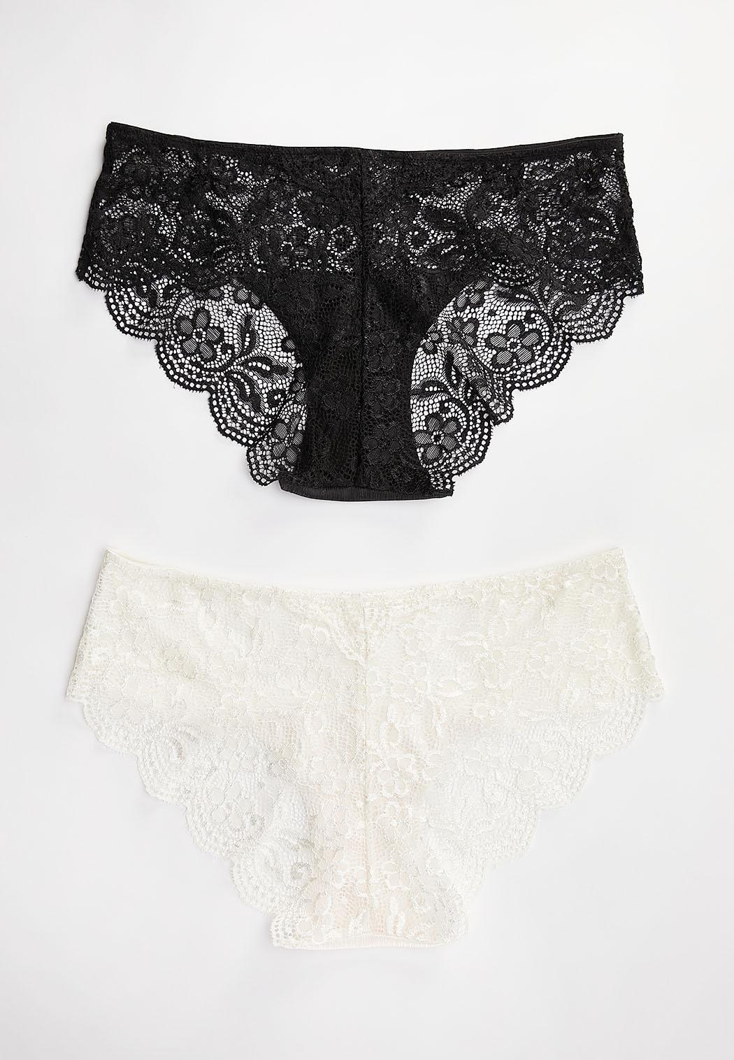 Ivory Black Panty Set (Item #44445317)