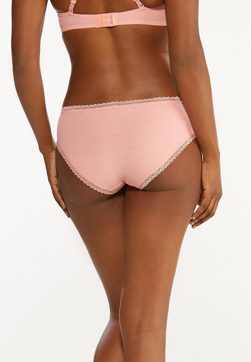 Plus Size Heart Trim Hipster Panty Set (Item #44445390)