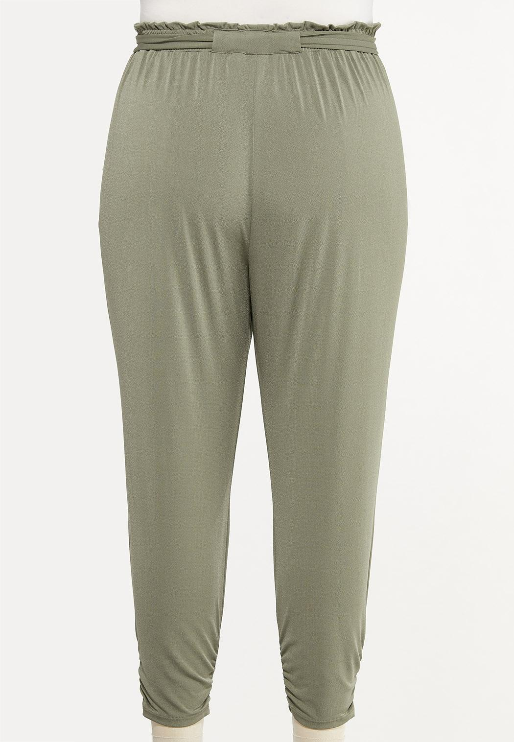 Plus Size Belted Utility Joggers (Item #44446681)