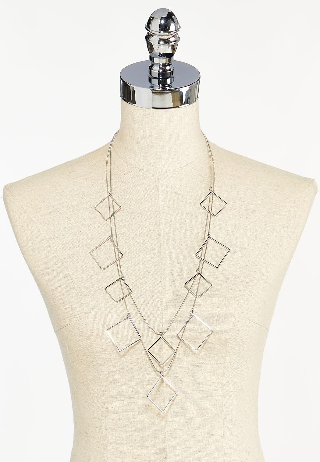 Layered Shaky Square Necklace (Item #44448968)