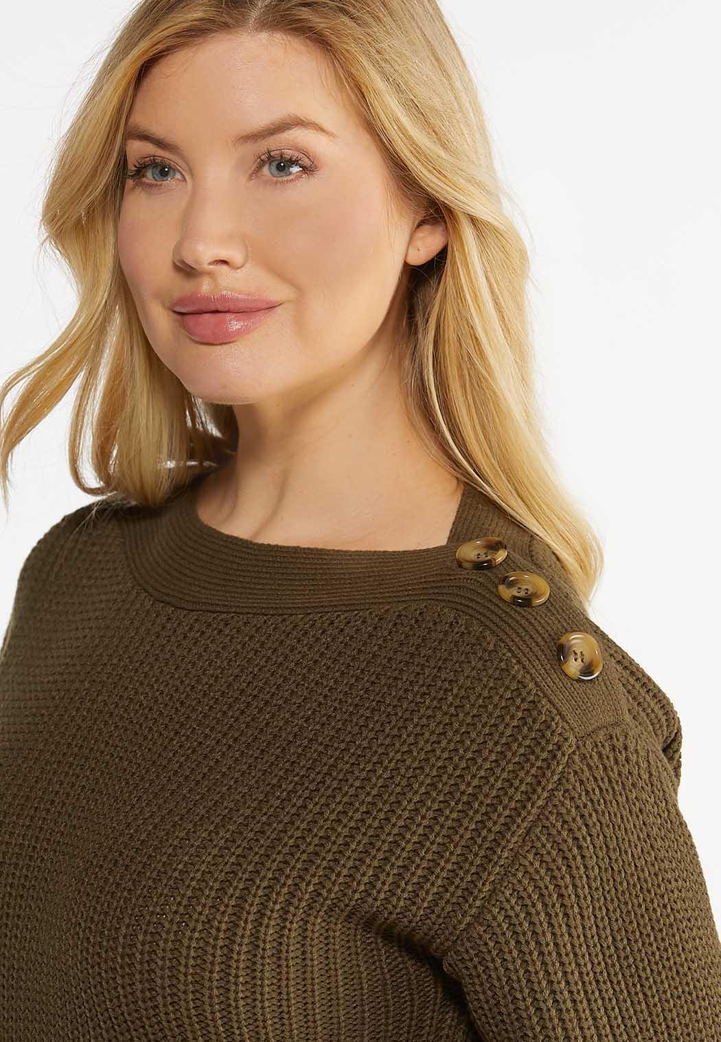 Button Shoulder Sweater (Item #44449527)