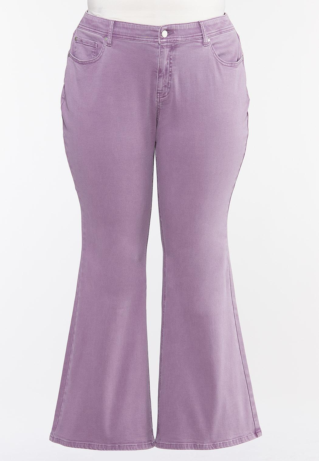 Plus Size Lavender Flare Jeans (Item #44449592)