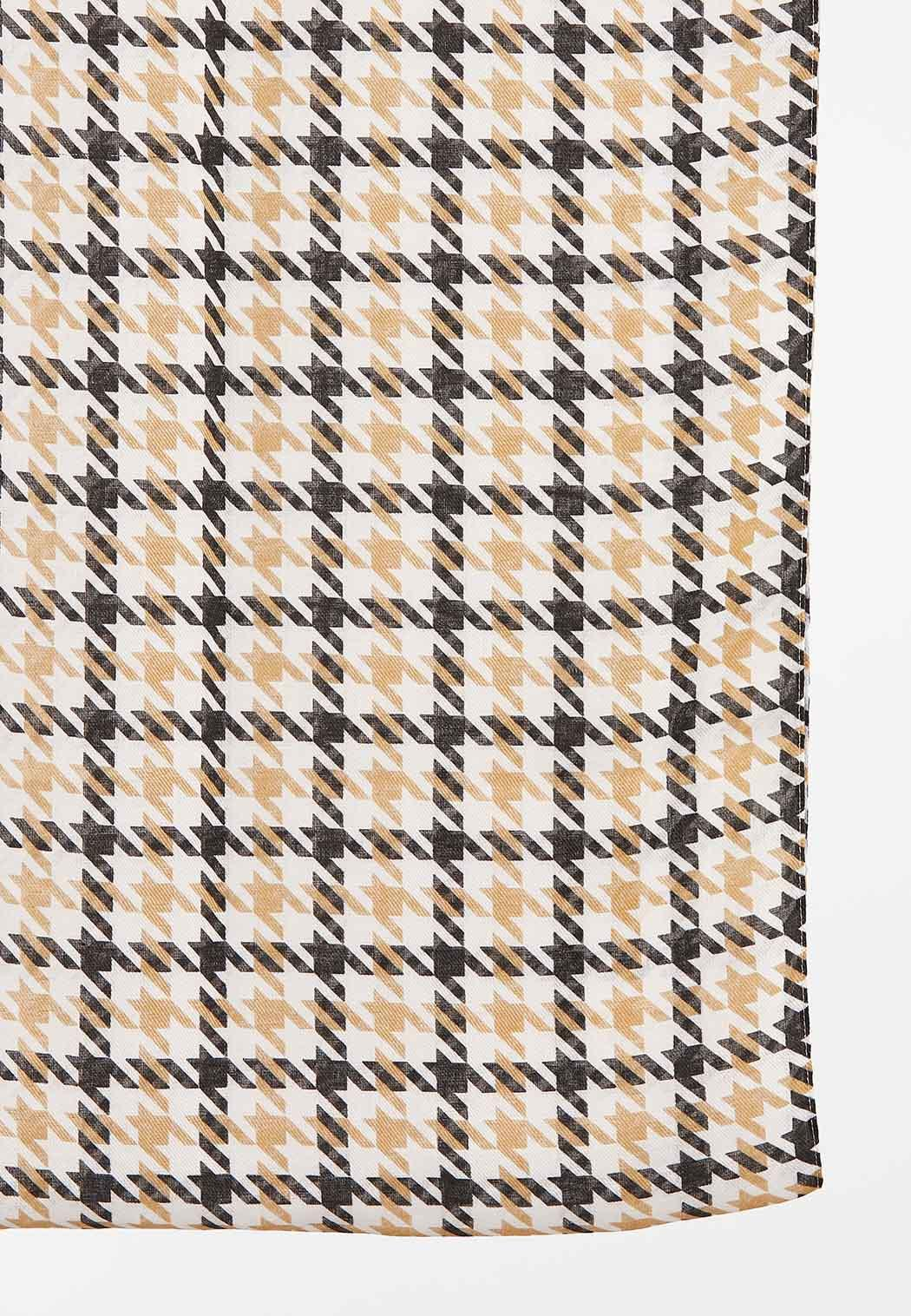 Neutral Houndstooth Infinity Scarf (Item #44449607)