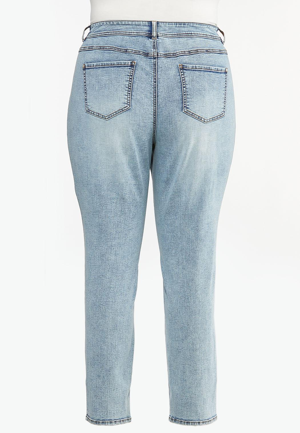 Plus Size Lightwash Skinny Jeans (Item #44449659)