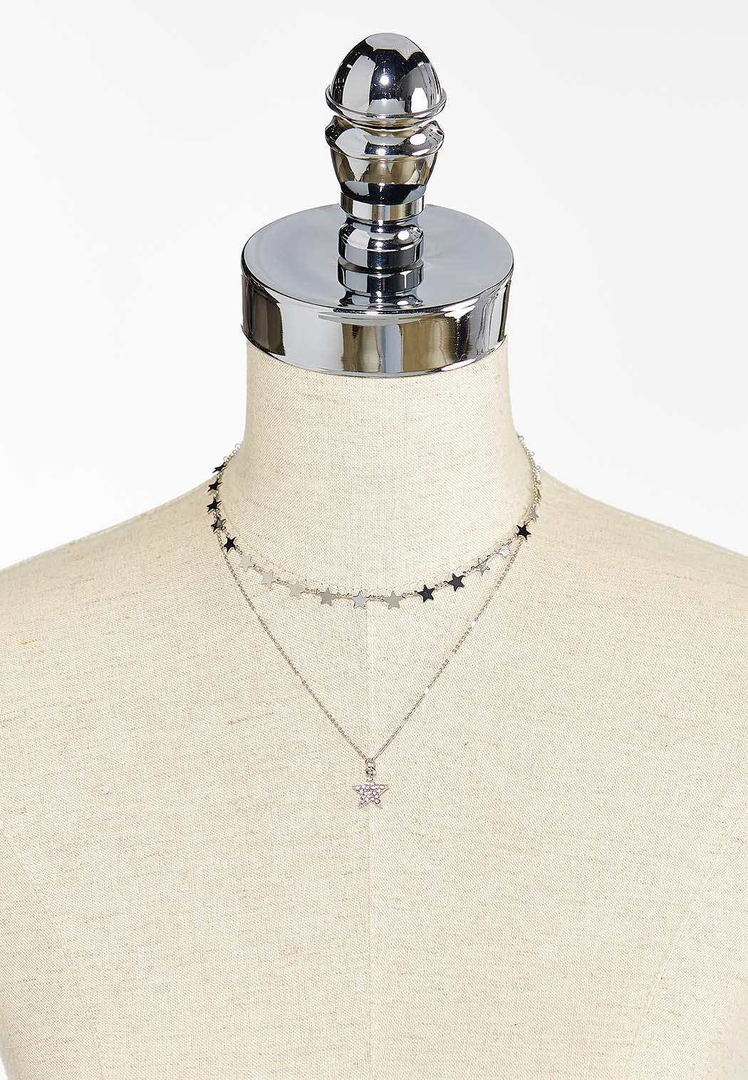 Delicate Layered Star Necklace (Item #44449829)