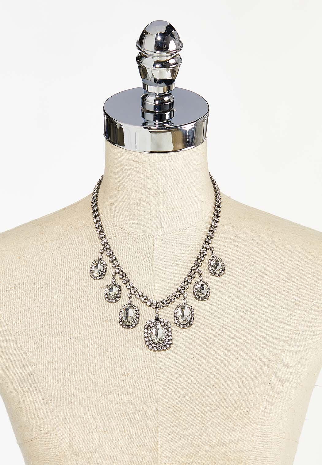 Cupchain Rhinestone Bib Necklace (Item #44450391)