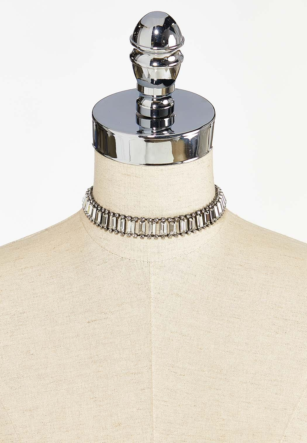 Glass Rhinestone Choker Necklace (Item #44450431)