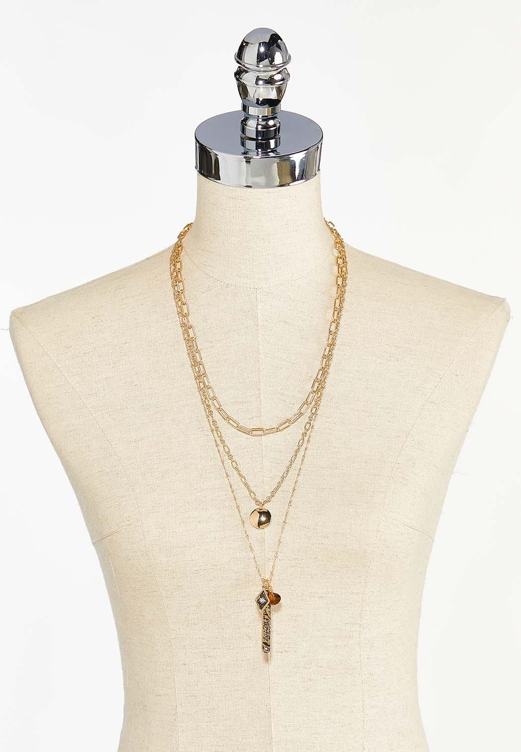 Layered Inspirational Necklace (Item #44450605)