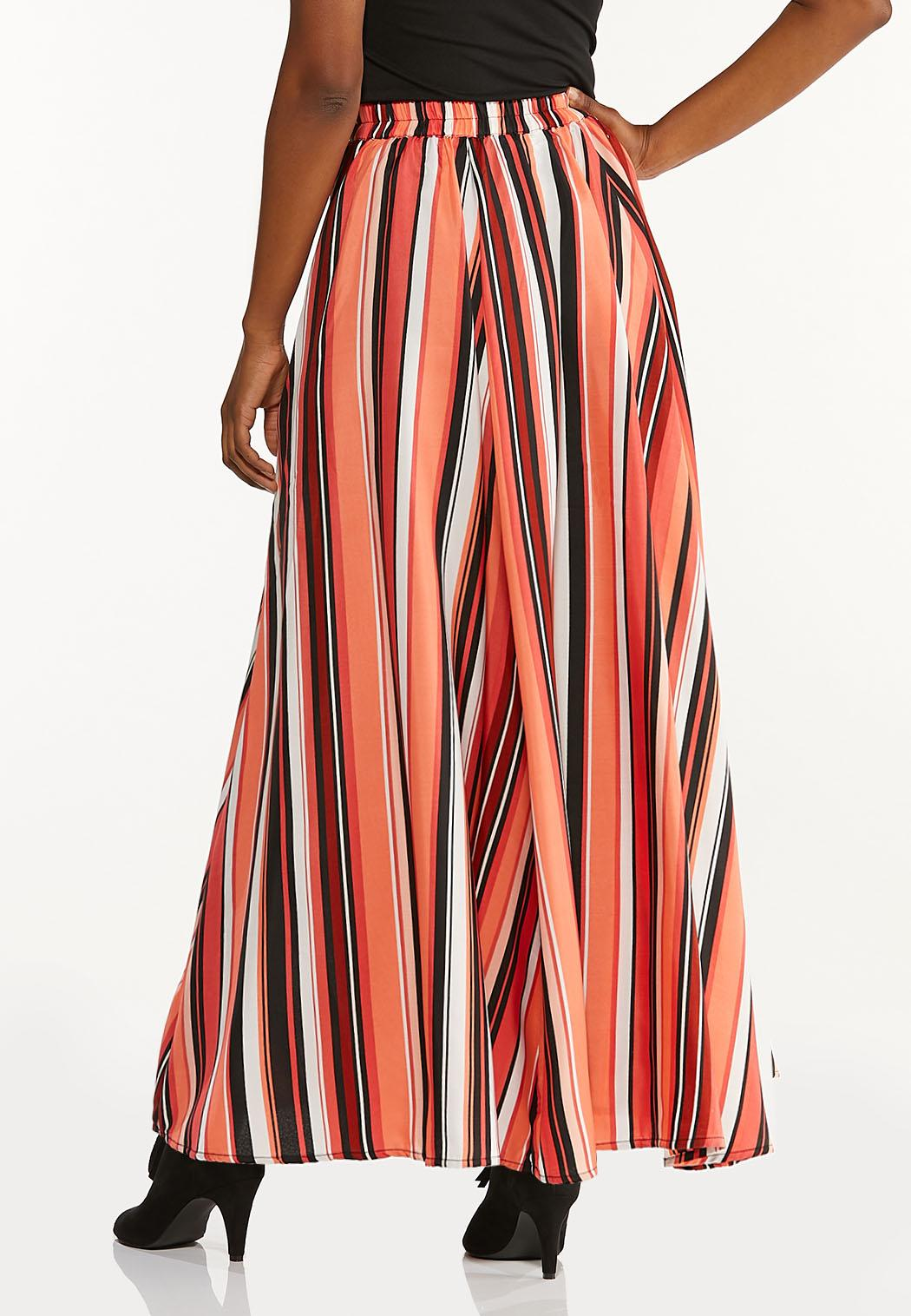 Plus Size Spicy Striped Maxi Skirt (Item #44451507)