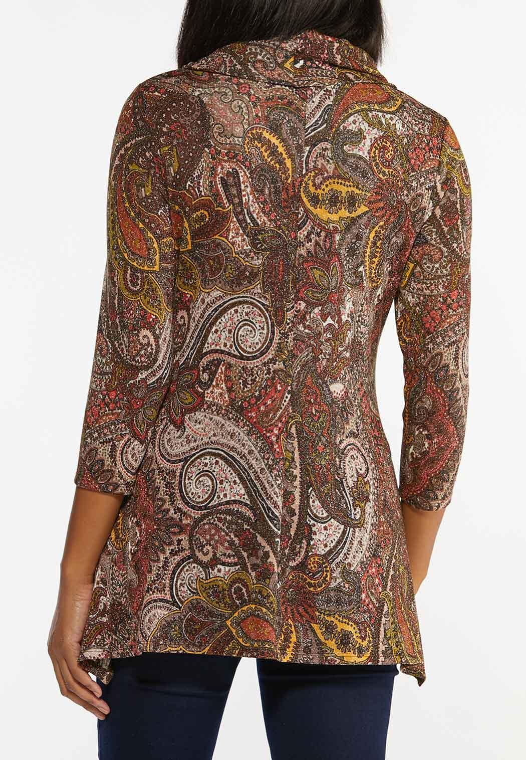 Sparkly Chestnut Paisley Top (Item #44451875)