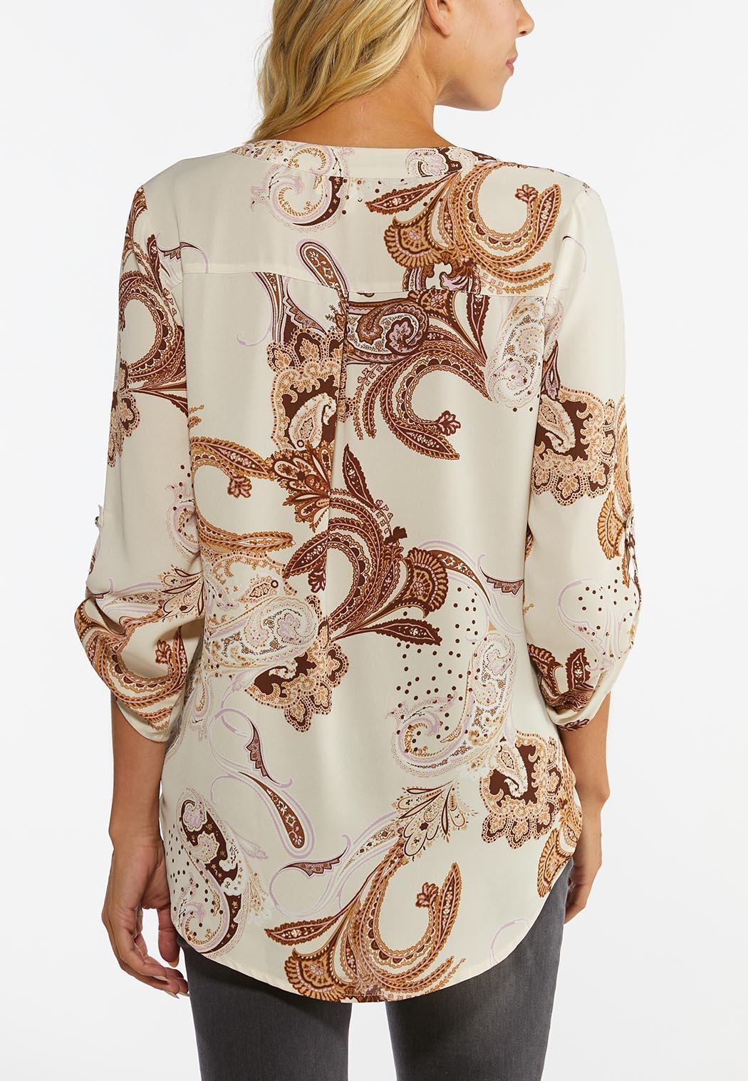 Plus Size Paisley High-Low Top (Item #44452060)