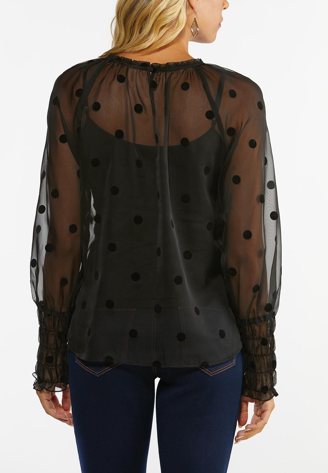 Dotted Flocked Top (Item #44452109)