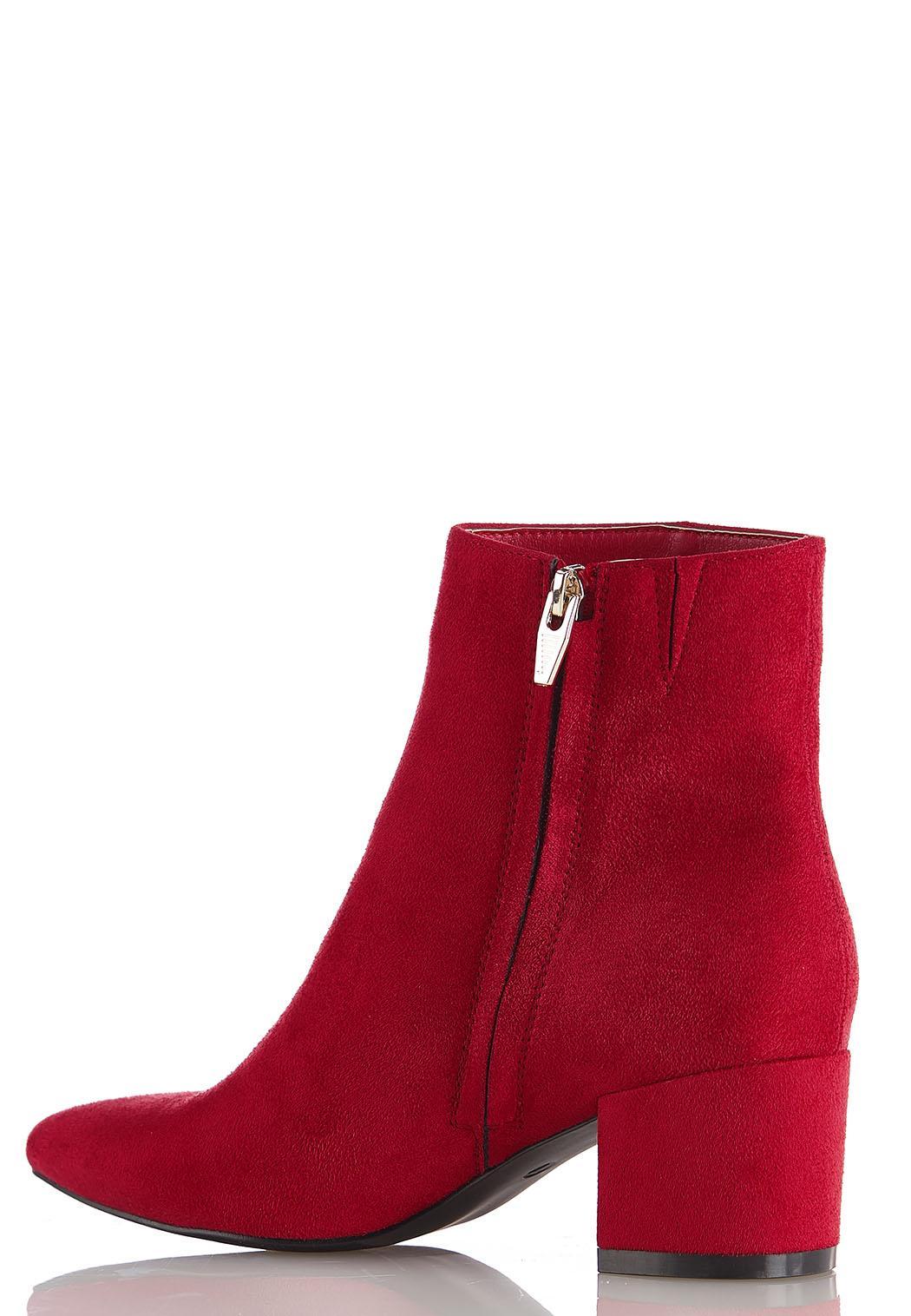 Faux Suede Block Heel Boots (Item #44452920)