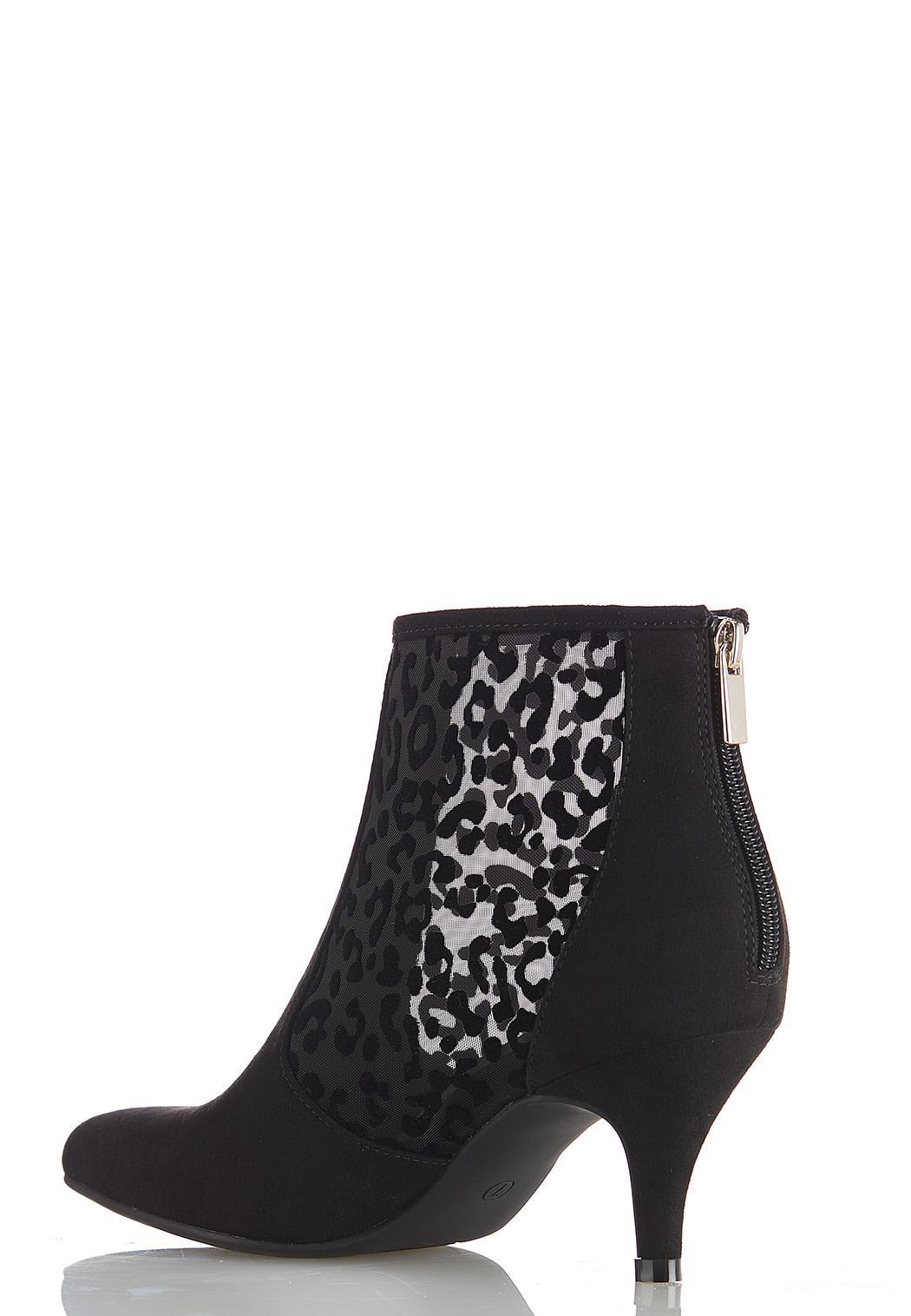 Leopard Mesh Booties (Item #44453082)