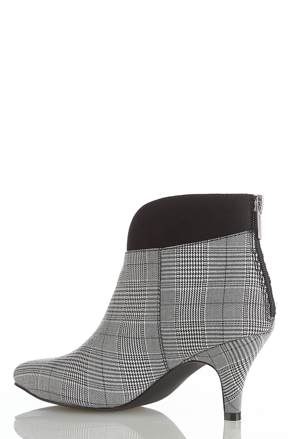 Wide Width Plaid Heeled Ankle Boots (Item #44454454)