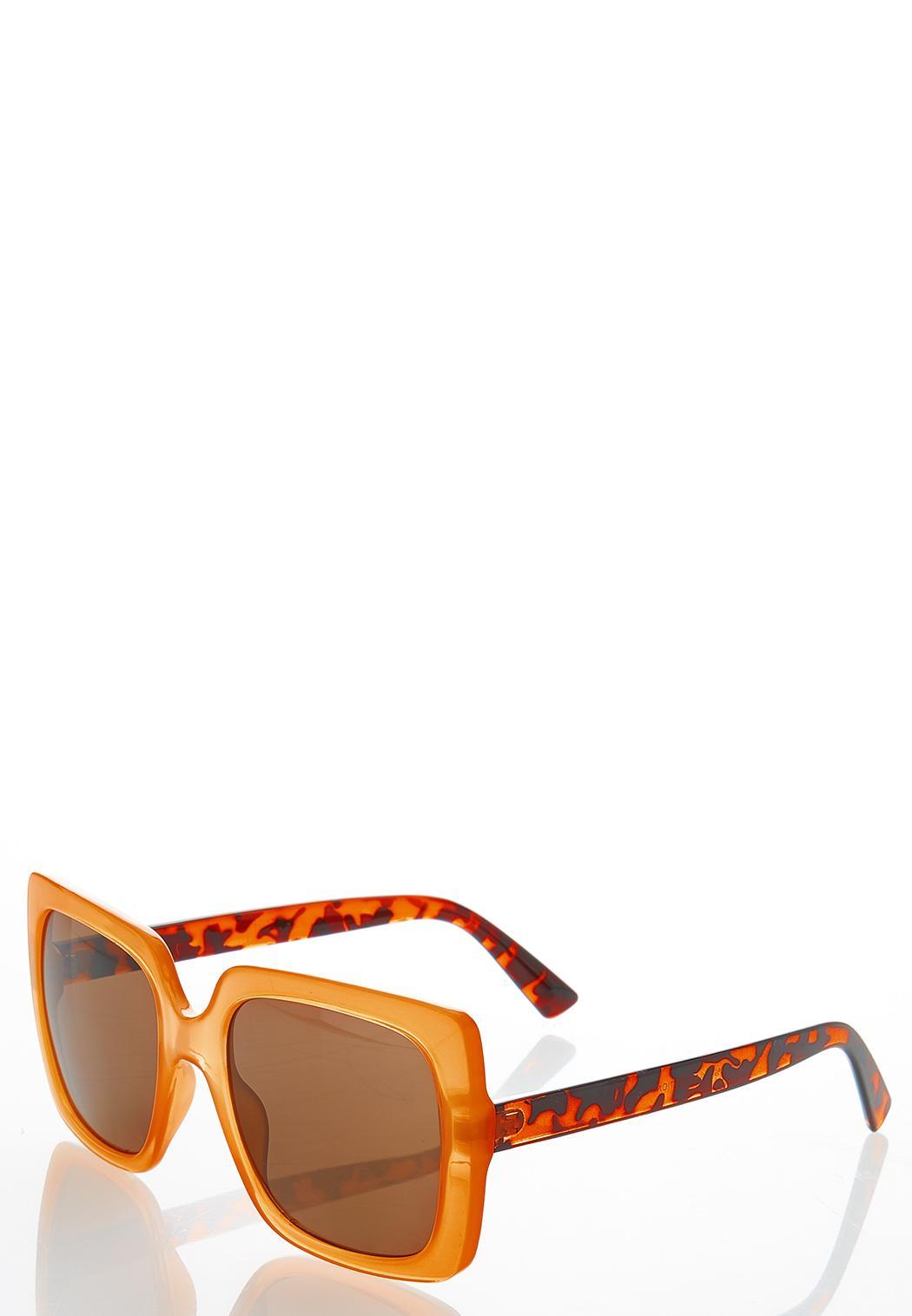 Golden Yellow Square Sunglasses (Item #44456573)