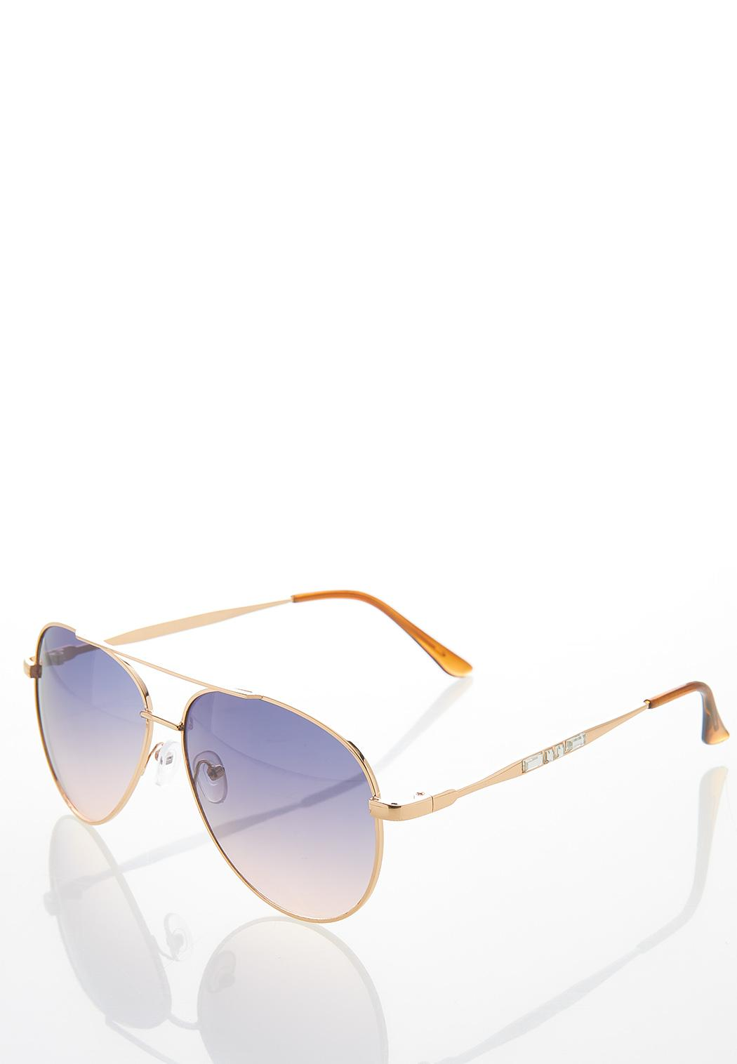 Bling Arm Aviator Sunglasses (Item #44456870)