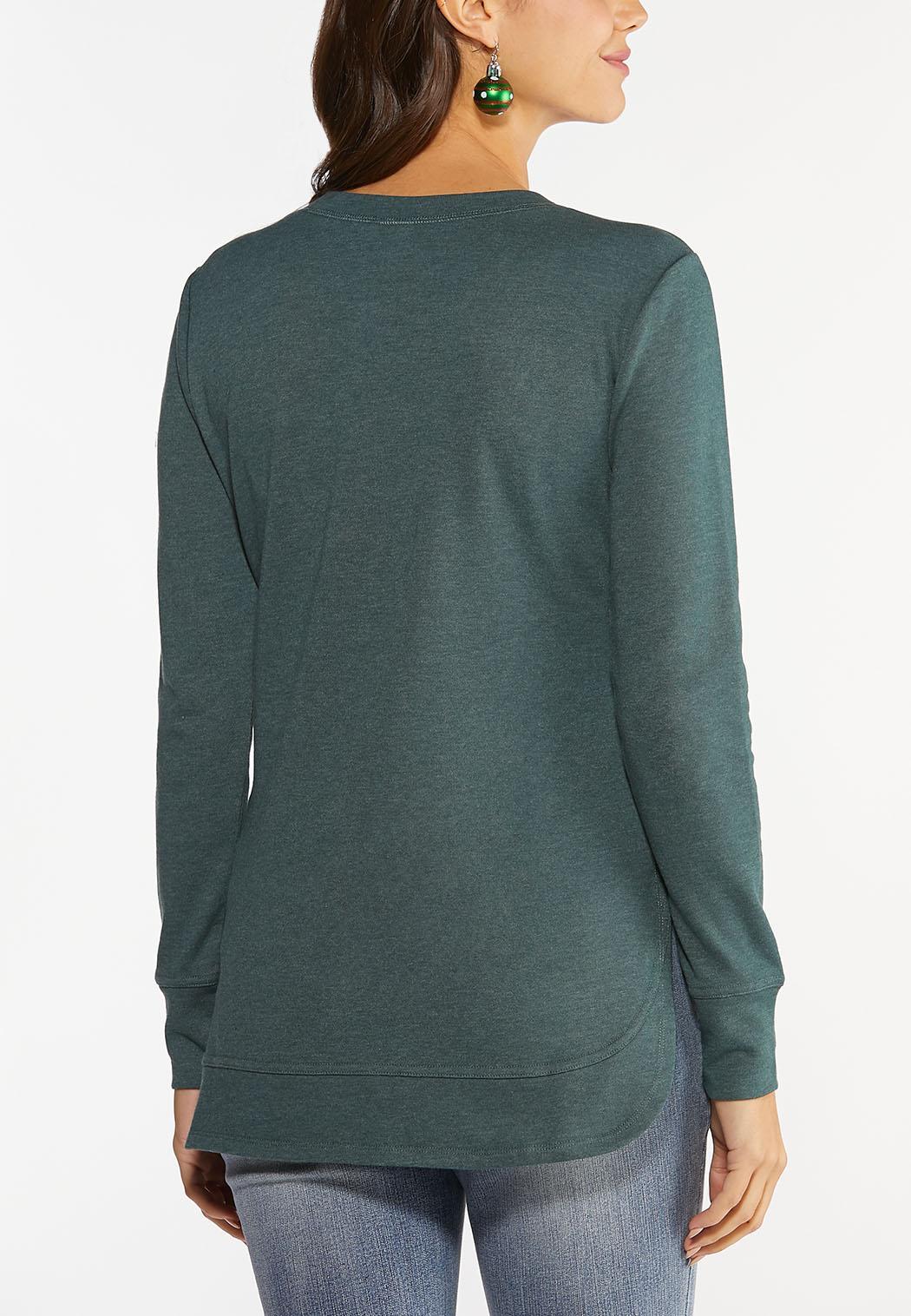 Beaded Reindeer Sweatshirt (Item #44457124)