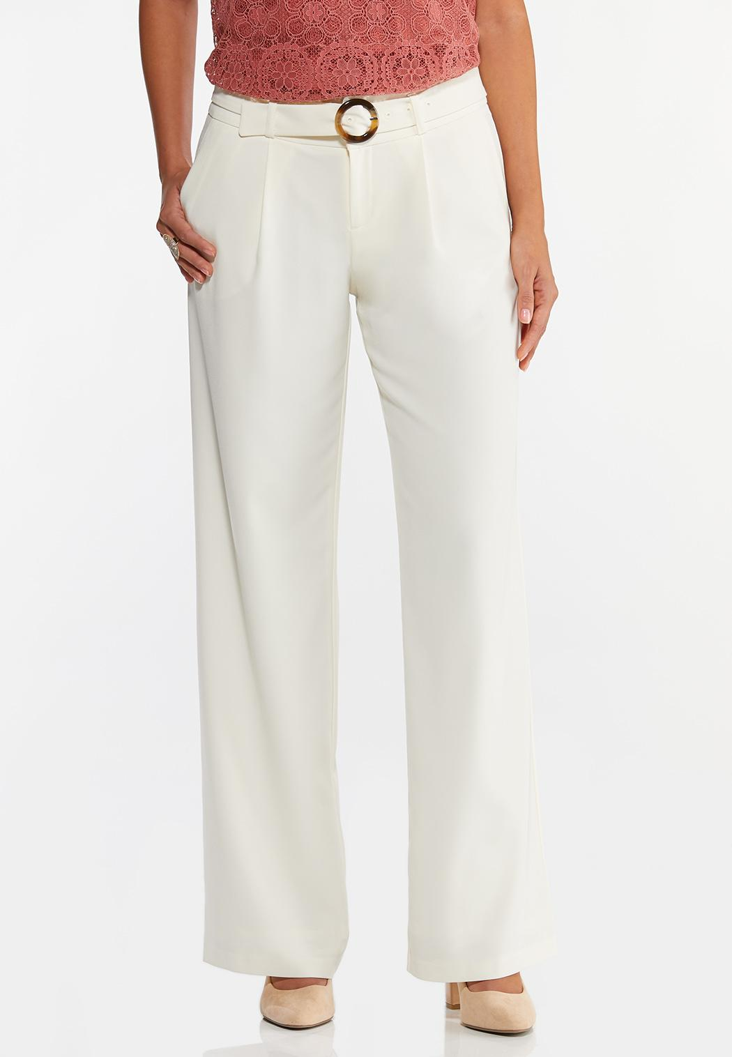 Ivory Belted Pants (Item #44457932)