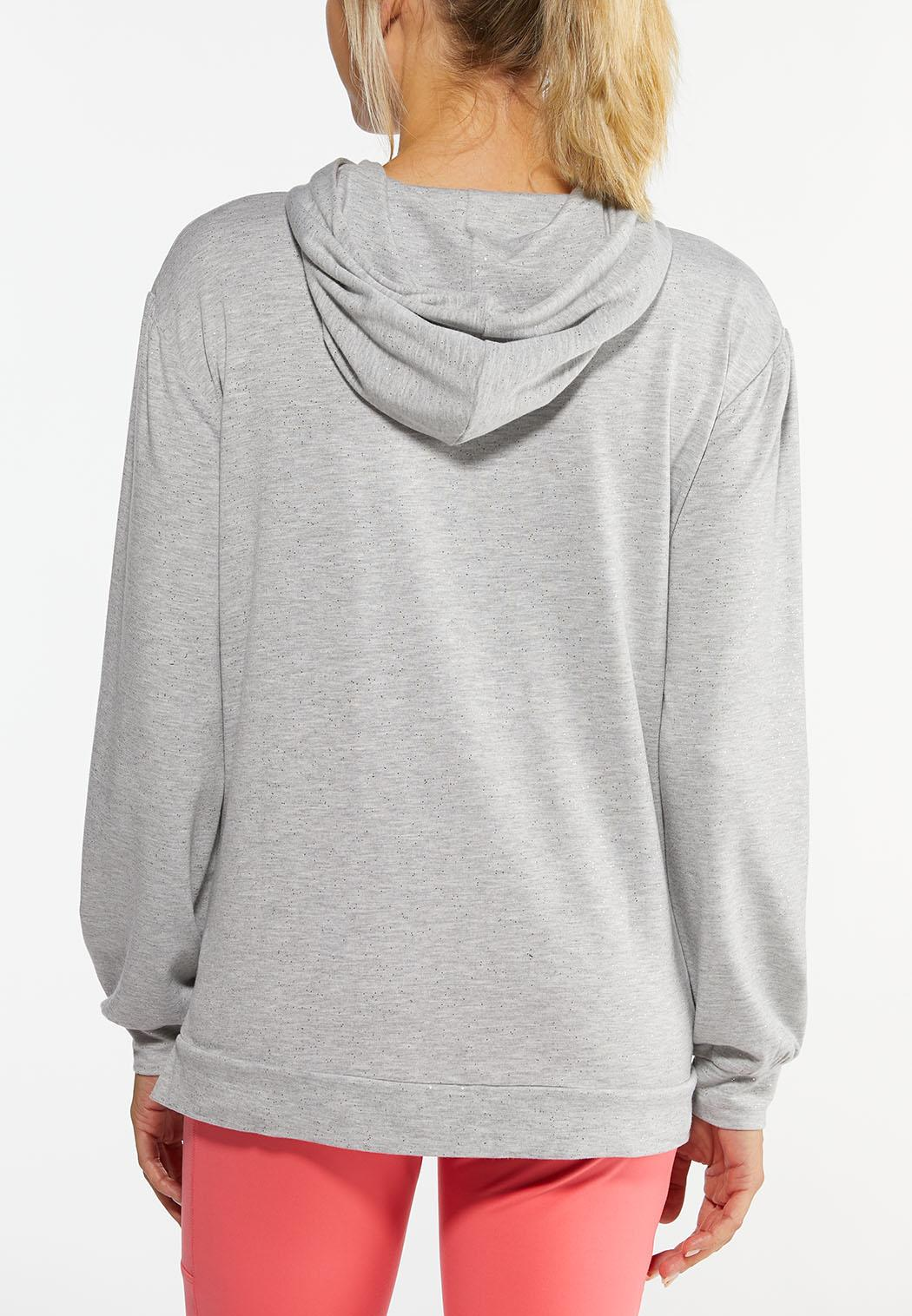 Plus Size Speckled Hoodie (Item #44458017)