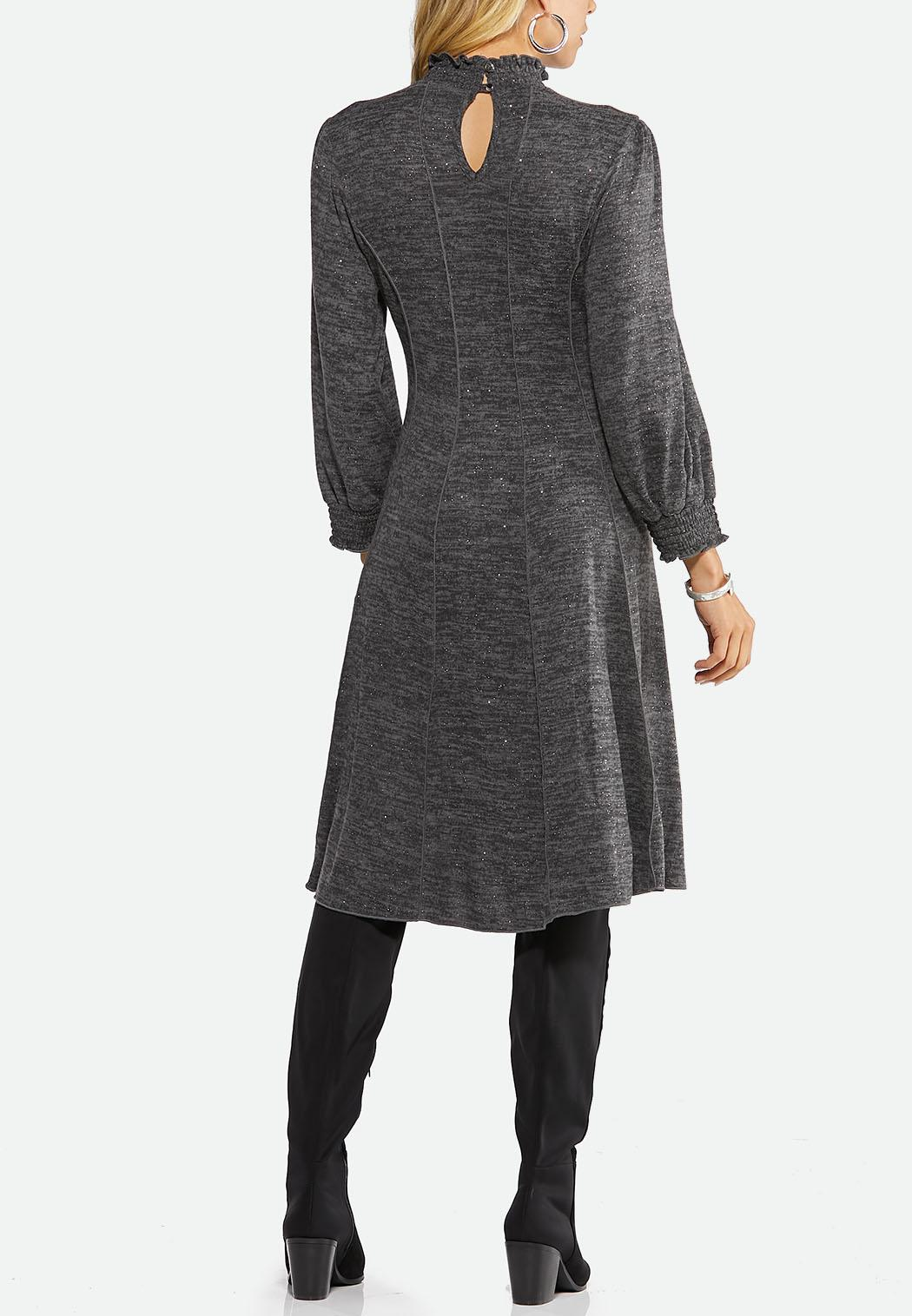 Plus Size Shimmer Smock Neck Corset Dress (Item #44458827)