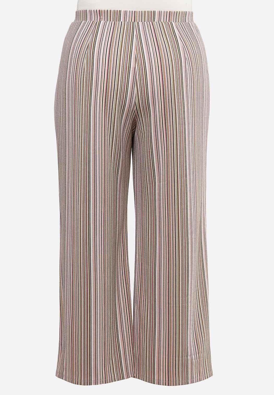 Plus Size Striped Palazzo Pants (Item #44458829)