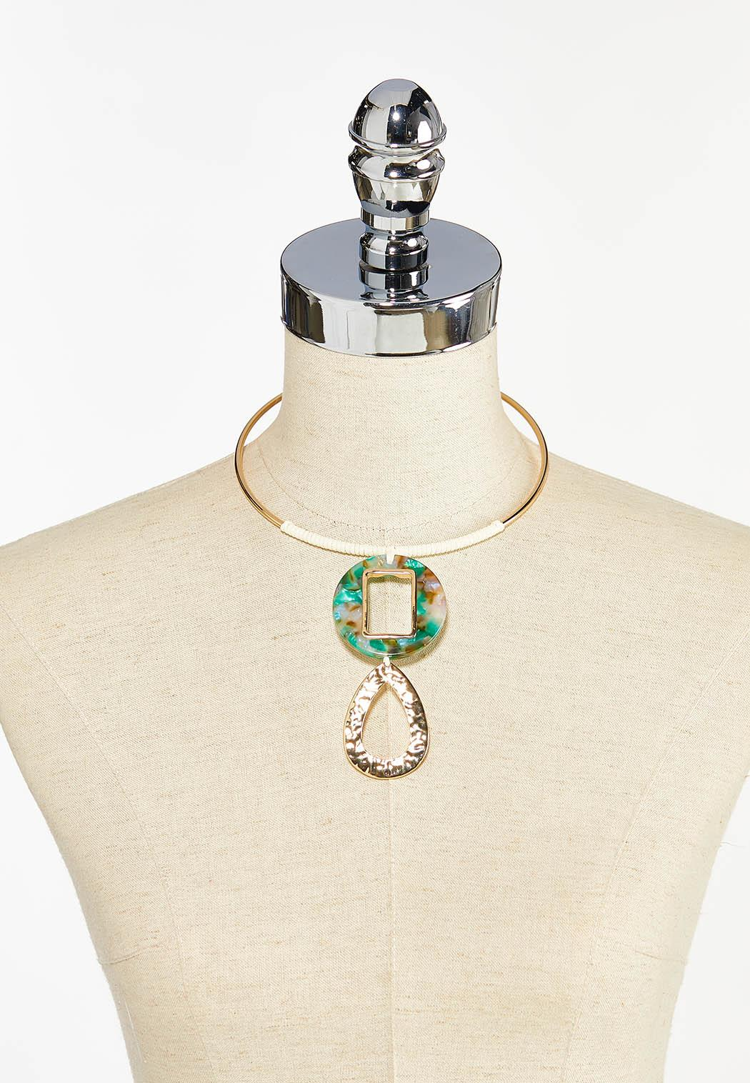Mixed Tiered Pendant Wire Necklace (Item #44458911)