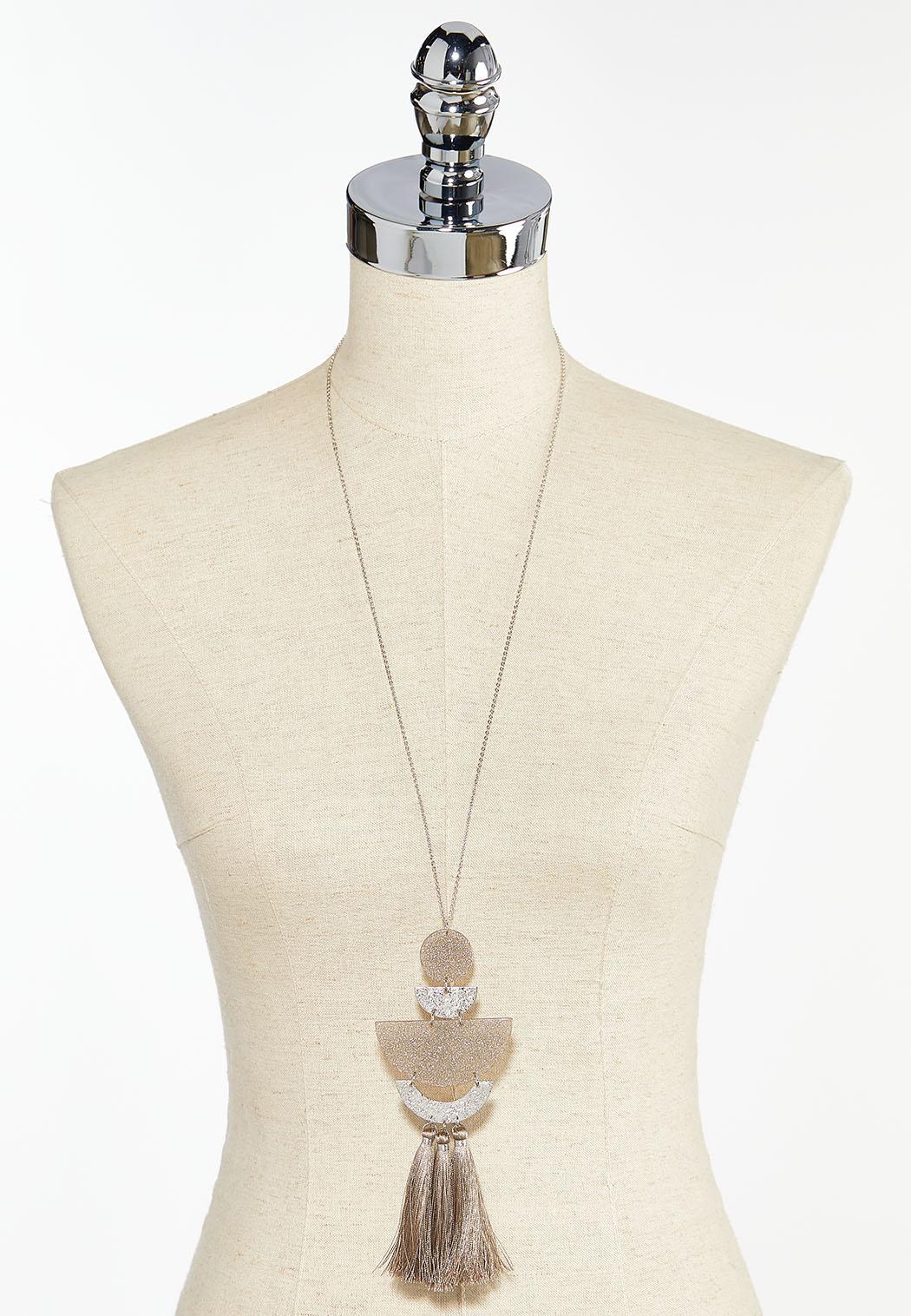 Lucite Tassel Pendant Necklace (Item #44459578)